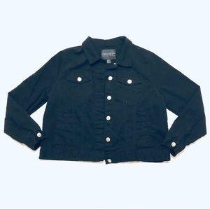 Black Forever 21 Plus Size 1X Jean Jacket